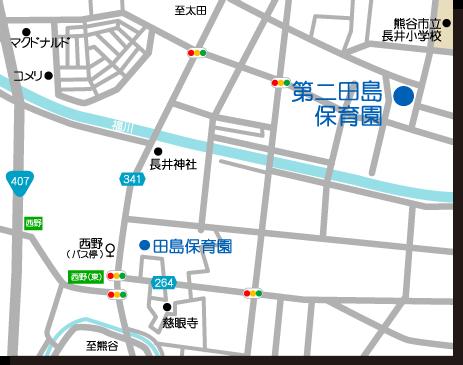 第二田島保育園周辺地図
